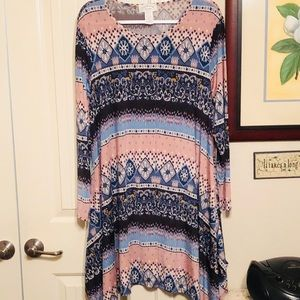 1x can be a short dress or long tunic style